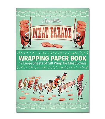 Accoutrements Meat Parade Wrapping Paper Book