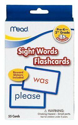 Mead Flashcards, Sight Words, Grades PK-2, 3.62 x 5.25 Inche