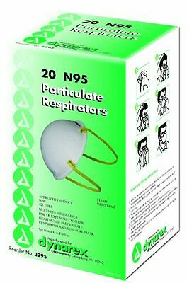 Dynarex N95 Particulate Respirator Mask, Molded, 20-Count