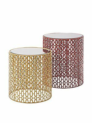 IMAX 72172-2 Essentials Energetic Mirror Table - Set of 2