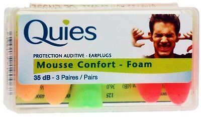 Quies Protection Auditive - Earplugs 35dB-3 Pairs [Health an