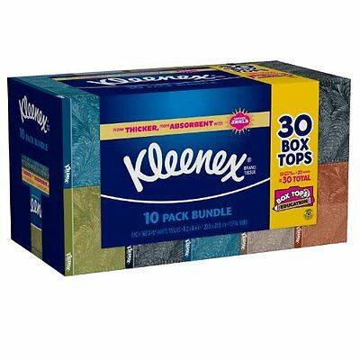 Kleenex 2-Ply White Facial Tissue, 10-Pack Bundle, 160 Count