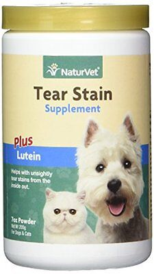NaturVet Tear Stain Supplement Plus Lutein for Dogs and Cats