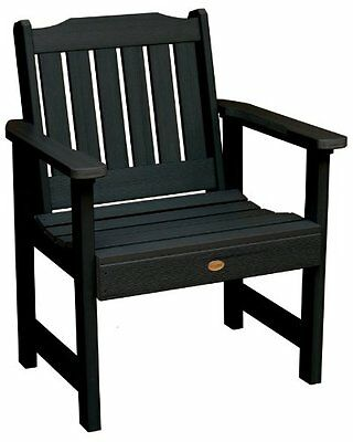 Highwood Lehigh Garden Chair, Black