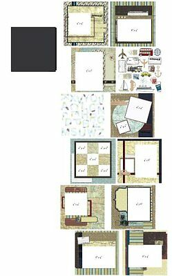 Provo Craft 8-Inch by 8-Inch Your Story Album Kit, Travel