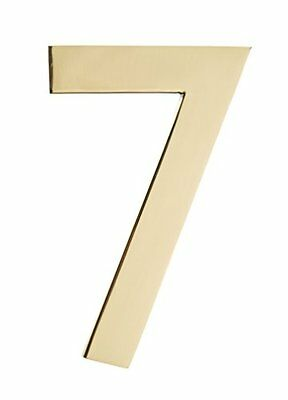 Architectural Mailboxes 3585PB-7  5 in. Brass Floating House Number 7, Poli