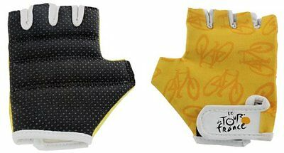 Tour De France Youth Gloves (Yellow, Extra Small)