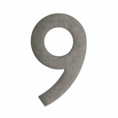 Architectural Mailboxes 3582APA-9  4 in. Brass Floating House Number 9, Ant