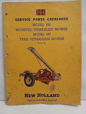 New Holland 450 & 455 Pitmanless Mower Service Parts Catalogue Book