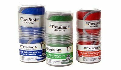 Thera-Band Comfort Fit Ankle/Wrist Cuff Weight Sets - Sold in Pairs-2lbs-Re