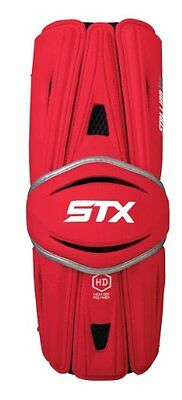 STX Lacrosse Stallion HD Arm Guards, Red, Large