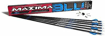 Carbon Express Maxima Arrow with Blazer Vane (Pack of 6), 250, Blue