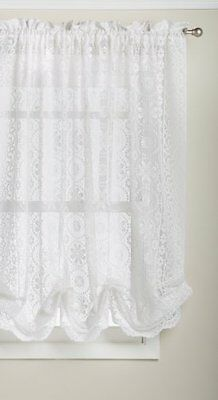 Lorraine Home Fashions Hopewell Lace Window Shade, 58-Inch by 63-Inch, Whit