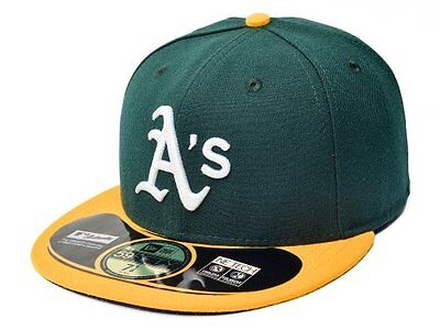 MLB Oakland Athletics Authentic On Field Game 59FIFTY Cap, 7, Green/Yellow