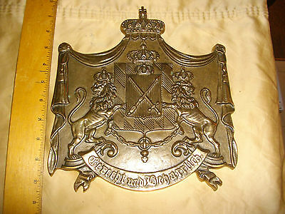king konig ludwig 1 von bayern of bavaria bronze plaque has makers mark age?