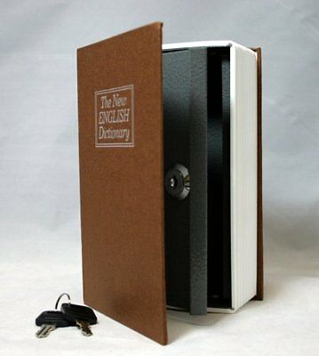 BlueDot Trading Dictionary Secret Book Hidden Safe with Key Lock, Small, Br