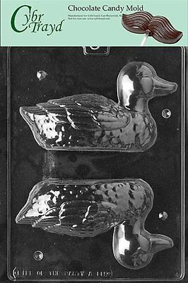 Cybrtrayd A115 3D Duck Chocolate Candy Mold with Exclusive Cybrtrayd Copyri