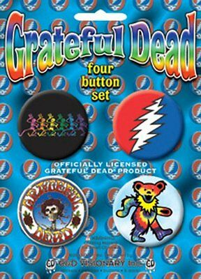 The Grateful Dead Assorted Logs Pin Button Set