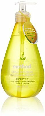 Method Products 01025 Kitchen Hand Wash, Lemongrass, 18 oz Pump Bottle