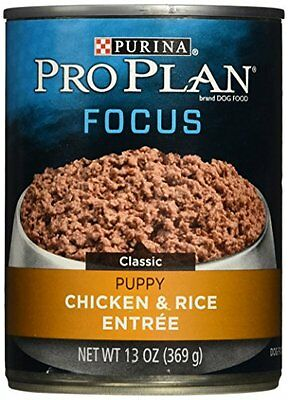 Purina Pro Plan Wet Dog Food, Focus, Puppy Chicken & Rice Entree Classic, 1