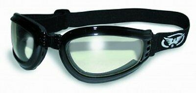 Global Vision Eyewear Mach-3 Goggles with Storage Pouch, Clear Lens