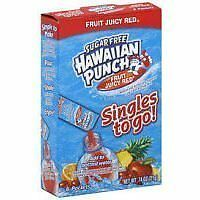 Hawaiian Punch, Sugar Free, Fruit Juicy Red, Singles to Go 8 Packets Per Bo