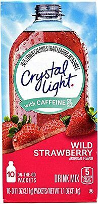 Crystal Light On The Go Wild Strawberry Energy Drink Mix- 10 CT