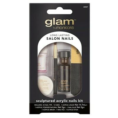 Manicare Glam Sculptured Acrylic Nails Kit Set