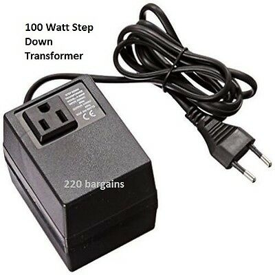 220/240 To 110/120 Volt European Socket Power Converter Step Down Transformer