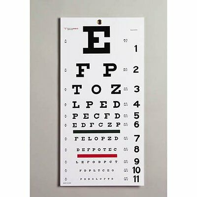 Snellen Eye Chart - Model 8502 - Each