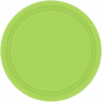 "Kiwi Green 7"" Paper Plates 8 Count"