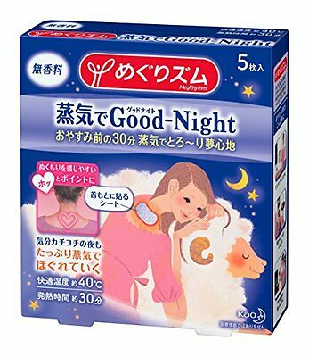 Kao Goodnight Heating Pad for Back (5 Sheets)