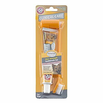 Arm and Hammer Clinical Care Max Strength Gum Care Toothpaste Set for Dogs