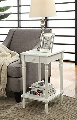 Convenience Concepts French Country End Table, White Finish
