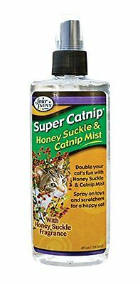 Four Paws Super Catnip Honeysuckle and Catnip Spray, 4 oz