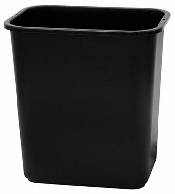 United Solutions WB0057 Black Thirteen Quart Rectangular Office/Indoor Wast