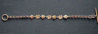 Genuine Real 9 Ct Solid Yellow Gold Women's Bracelet With T Bar No Scrap
