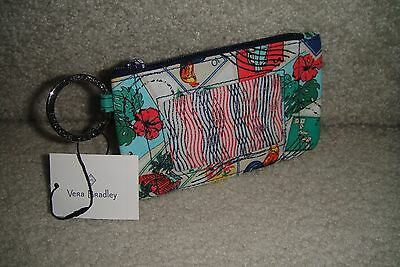 """Vera Bradley  Zip Id Case """"stamps"""" Pattern  New With Tags!"""