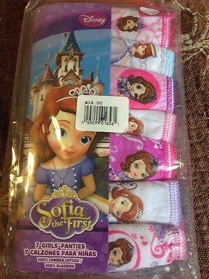 Girls Size 4 SOFIA THE FIRST Underwear 7pack NEW $18 Retail