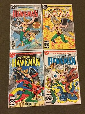 The Shadow War of Hawkman #1-4 (Comic Book Set DC 1985) Hawkgirl JLA Aquaman