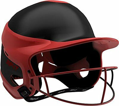 RIP-IT Vision Pro Softball Away Color Helmet/Face Guard, Scarlet, Small/Med