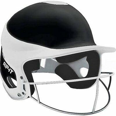 RIP-IT Vision Pro Softball Away Color Helmet/Face Guard, Black, Extra Large