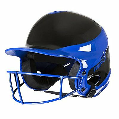 RIP-IT Vision Pro Softball Away Color Helmet/Face Guard, Royal, Extra Large