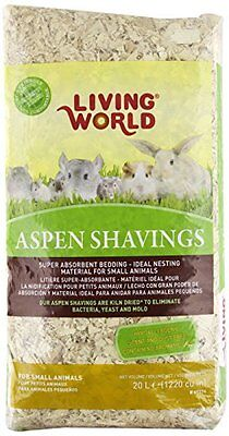 Living World Wood Aspen Shavings, 1200-Cubic Inch