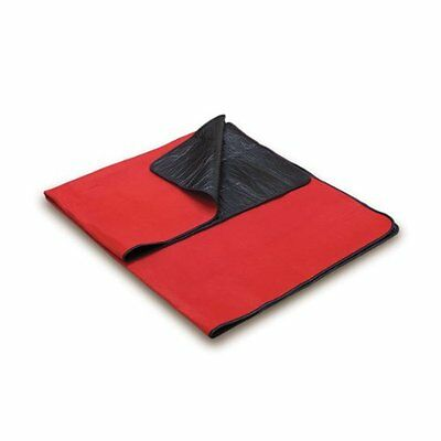 Picnic Time Outdoor Picnic Blanket Tote (Red/Black)
