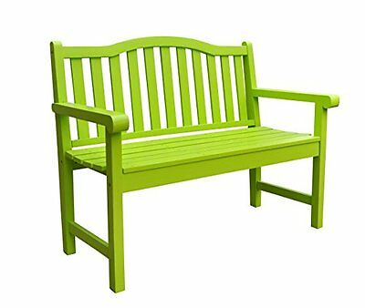 Shine Company Belfort Garden Bench, Lime Green