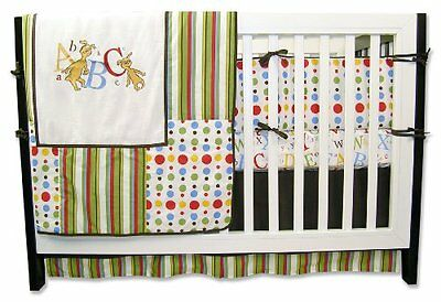 Trend Lab Dr. Seuss 4 Piece Crib Bedding Set, ABC