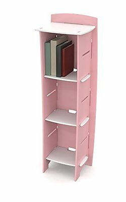 Legare Kids Furniture Princess Series Collection 3-Shelf Bookcase, Pink and