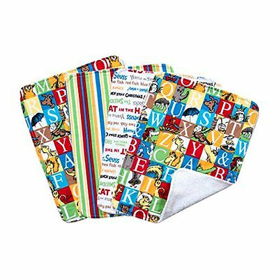 Trend Lab Dr. Seuss Alphabet Seuss Bouquet 4 Piece Burp Cloth Set