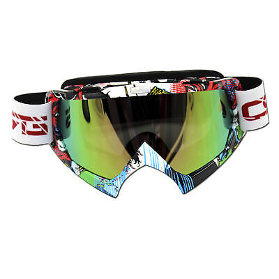 Tinted Motocross Snow SKi Motorbike GOGGLES UV Protection Dirt Trail bike